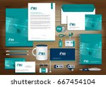 set of vector corporate... | Shutterstock .eps vector #667454104