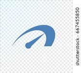 speed icon flat . | Shutterstock .eps vector #667455850
