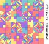 vector mosaic seamless pattern. ... | Shutterstock .eps vector #667457110