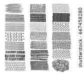 set of hand drawn doodles... | Shutterstock .eps vector #667458280
