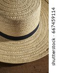 Small photo of A classic Amish Man's straw hat