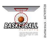 top view of a basketball net... | Shutterstock .eps vector #667459528