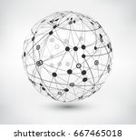 abstract sphere design.vector... | Shutterstock .eps vector #667465018