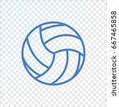 volleyball icon flat. | Shutterstock .eps vector #667465858