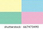 dot pastel background yellow...   Shutterstock .eps vector #667473490