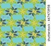 vector cute pattern in small... | Shutterstock .eps vector #667473958