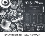 vector card design with ink... | Shutterstock .eps vector #667489924