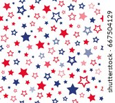 red and blue stars seamless... | Shutterstock .eps vector #667504129