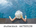 asian woman enjoy and relax in... | Shutterstock . vector #667505158
