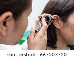 doctor examined the patient's... | Shutterstock . vector #667507720