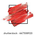 abstract painted textured red... | Shutterstock . vector #667508920