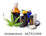 marijuana plant and cannabis... | Shutterstock . vector #667511344