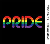 rainbow pride on black | Shutterstock .eps vector #667519063
