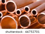 set of copper pipes of... | Shutterstock . vector #66752701
