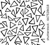 seamless pattern with hand... | Shutterstock .eps vector #667528618