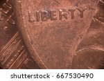 Close Up Of The Word Liberty O...