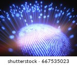 3d illustration. fingerprint... | Shutterstock . vector #667535023