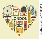 london poster concept. vector... | Shutterstock .eps vector #667538314