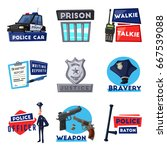 policeman character and police... | Shutterstock .eps vector #667539088