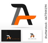 letter a logo icon design... | Shutterstock .eps vector #667544194
