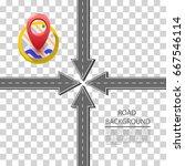 arrow road set sign. arrow icon.... | Shutterstock .eps vector #667546114
