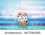 celebrating the 4th of july ... | Shutterstock . vector #667546360