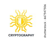 cryptography icon on white | Shutterstock .eps vector #667547506