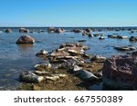 stones at sea coast | Shutterstock . vector #667550389