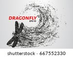 dragonfly of the particles.... | Shutterstock .eps vector #667552330