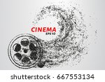 cinema of the particles. cinema ... | Shutterstock .eps vector #667553134