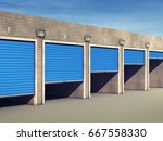 outdoor self storage units  ... | Shutterstock . vector #667558330