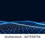 3d rendering abstract... | Shutterstock . vector #667558756