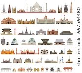 collection of isolated vector... | Shutterstock .eps vector #667564480