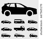cars icon vector illustration... | Shutterstock .eps vector #667565170