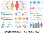 human infographics for reports...   Shutterstock .eps vector #667569769