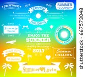 summer time background with text | Shutterstock .eps vector #667573048