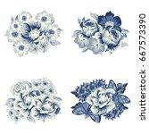 flower set | Shutterstock .eps vector #667573390