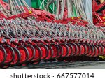 agricultural cultivator for the ... | Shutterstock . vector #667577014