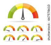 speedometer icon. colorful info ... | Shutterstock .eps vector #667578610
