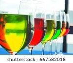 wine glass | Shutterstock . vector #667582018