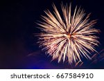 brightly colorful fireworks and ... | Shutterstock . vector #667584910