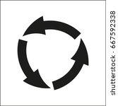 vector icon arrow circle   Shutterstock .eps vector #667592338