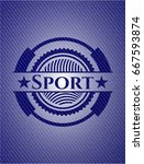 sport badge with denim...