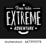 off road logo. extreme... | Shutterstock .eps vector #667595578