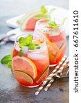 summer refreshing cocktails...   Shutterstock . vector #667611610