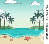beach illustration texture... | Shutterstock . vector #667611769