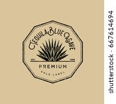 tequila logo. gold tequila... | Shutterstock .eps vector #667614694