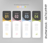 infographic template of four... | Shutterstock .eps vector #667614949