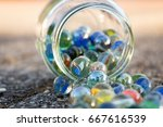 Glass Jar Full Of Marbles ...