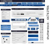 web design element blue | Shutterstock .eps vector #66761986